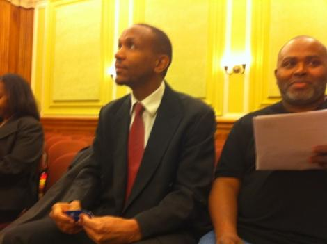 Former D.C. mayoral candidate Sulaimon Brown at a council hearing in March, where he was not a witness.