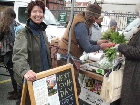 FRESHFARM's Bernadine Prince says the organization needs $20,000 to launch Double Dollars at the Dupont Circle Farmers Market.
