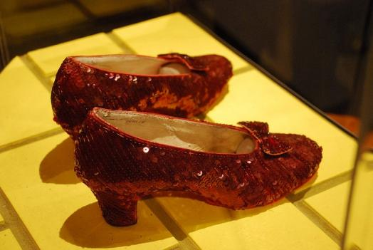 Dorothy's ruby slippers at the National Museum of American History.