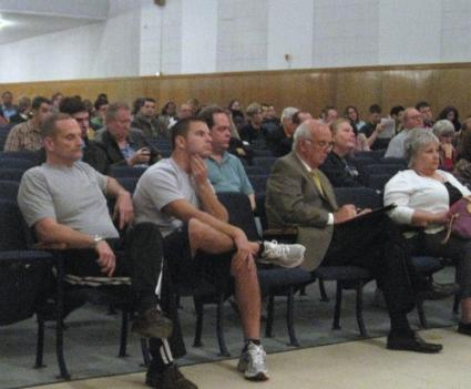 Northern Virginia residents that came out for Rep. Jim Moran's town hall meeting last night weren't exactly encouraged by the congressman's urging to save money to prepare for the shutdown.