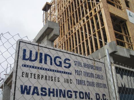 Some Latino workers demanding rights picketed Wednesday near this construction site on Rhode Island Avenue in Northeast D.C.