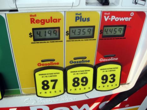 A gallon of regular gas was $4.19 at the Shell on Wisconsin Ave. NW April 18.
