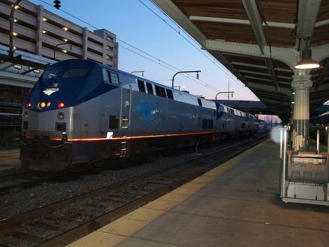 One of the Amtrak/MARC platforms at Union Station.