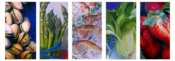 "Cindy Packard Richmond's solo exhibit, ""Food, Glorious Food,"" is open through May 2."
