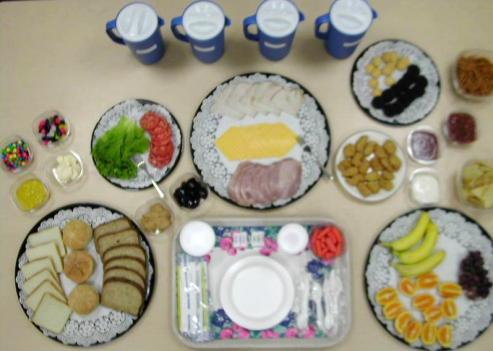 The NIH uses food buffets to determine how much teens eat.