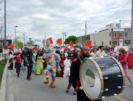 The Love Parade is a project of Fluid Movement, a group that participates in Baltimore's Transmodern Festival.