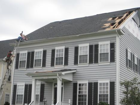 Residents in the Nokesville area in Prince William County say a funnel cloud did this damage late Wednesday night.