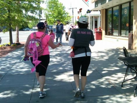 Avon Walk for Breast Cancer participants on Wisconsin Avenue in Tenleytown.