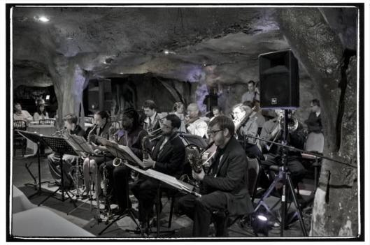 The new Bohemian Caverns Jazz Orchestra is a 17 piece big band co-founded by baritone saxophonist Brad Linde, trumpeter Joe Herrera and club owner Omrao Brown.