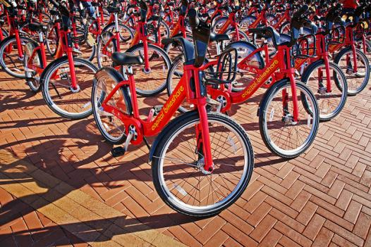 Hundreds of people hopped on Capital Bikeshare bikes to head to the White House to celebrate the death of Osama bin Laden Sunday night.