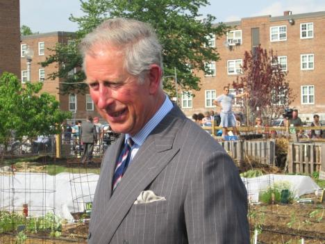 Prince Charles visits Common Good City Farm Tuesday afternoon.