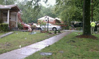 The house at 11221 Ashley Drive in Rockville was leveled after an explosion in the early morning hours May 4.