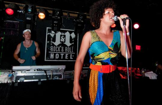 Hercules and Love Affair perform at the Rock and Roll Hotel.
