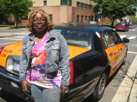 Carolyn Robinson has been driving taxicabs through the streets of Washington DC for 36 years.