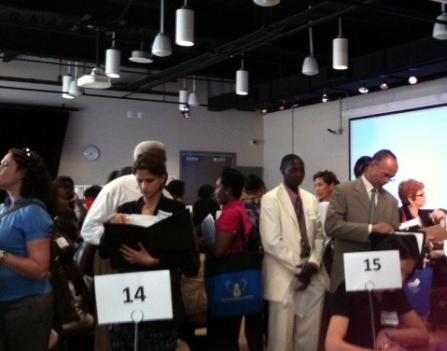 DCPS teachers and staff members looking for new positions after being 'excessed' were asked to bring their most recent evaluations to a job fair May 11.