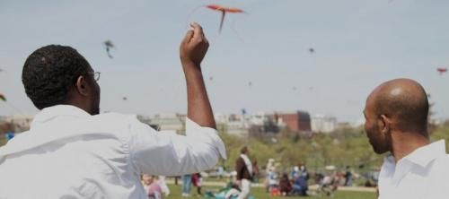 "Filmmakers of ""Lift Up"" fly kites in Haiti to remember those who passed in the 2010 earthquake."