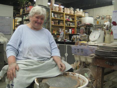 Jill Hinckley, 74, has been teaching pottery making in Washington, D.C., for 35 years. She now teaches at the pottery shop she founded, Hinckley Pottery.