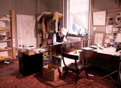 Jackson Art Center's Robin Hill at work in his space in Georgetown.