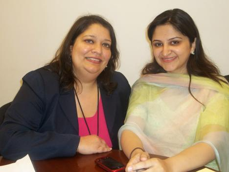 Gisela Ghani, left, has mentored Maria Umar for the past two weeks here in D.C. They will continue the relationship when Umar returns to her business in Pakistan.