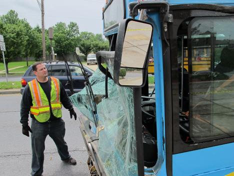 The bus was finally pulled out of the KFC near the Glenmont Metro after more than five hours.