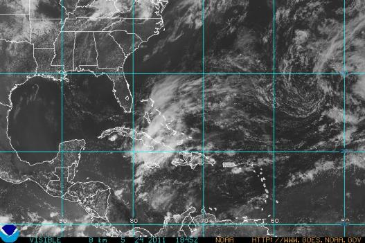 Hurricane tracking satellite image from Tuesday.