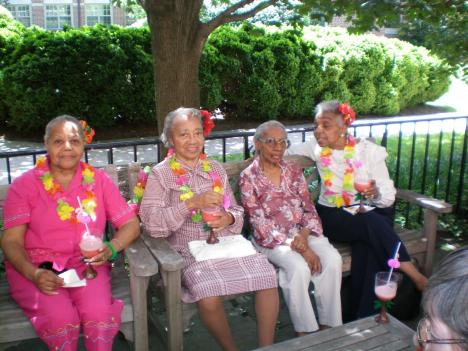 Residents celebrate Caribbean Day at the Lisner-Louise-Dickson-Hurt Home.