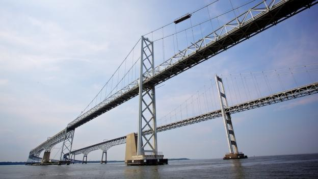 The Bay Bridge in August 2010.