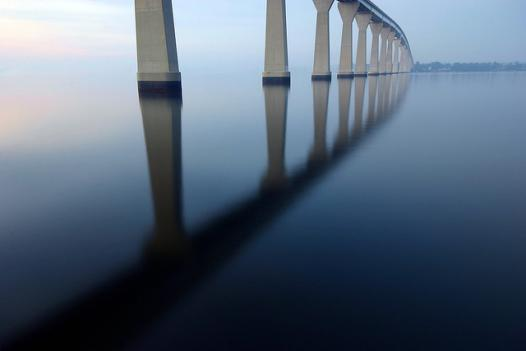 The Thomas Johnson Bridge in Solomons, Md.