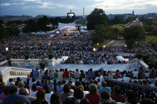 A view of 2010's National Memorial Day Concert from the steps of the U.S. Capitol.