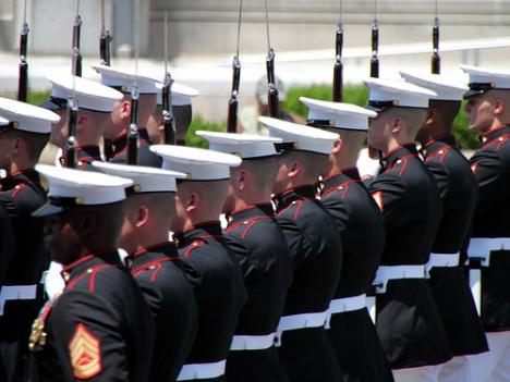 Marines at the 2010 Memorial Day Parade.