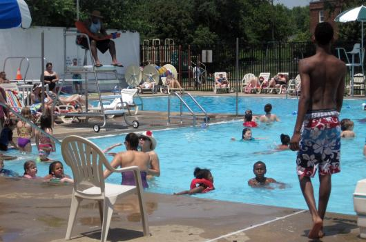 The Old Town Pool had to begin turning people away about an hour after it opened Monday, as it had already reached capacity.