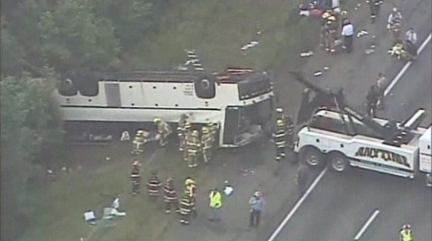 A bus crash on I-95 in Virginia in May left four people dead.