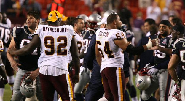 Albert Haynesworth and Donavan McNabb are no longer with the Washington Redskins.