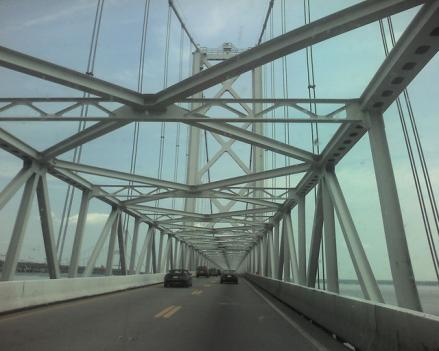 The Maryland Transportation Authority will begin repainting the Bay Bridge this fall.