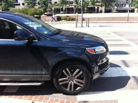 The Audi SUV outside the D.C. Council building that the attorney general says Council member Harry Thomas Jr. paid for with money that was earmarked for youth baseball programs.