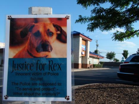 The owner of Rex, a mixed breed dog that died June 3, claims that police ignored his pleas for them to save his dog when he was arrested in at an IHOP in Sterling.