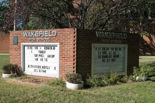 Arlington's Wakefield High School is one of the schools that has suffered overcrowding in recent years. The Arlington Public Schools district broke ground on a new, larger Wakefield that can house a growing student population last week.