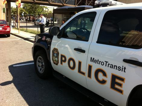 Service on Metro's Red Line train was halted after a woman made a bomb threat.