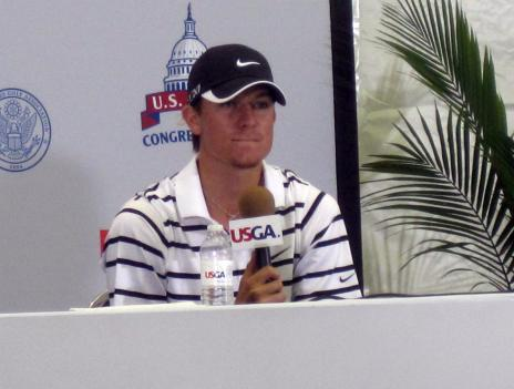 Michael Whitehead, the golfer stepping in to replace Tiger Woods in this year's U.S. Open, speaks to the media Tuesday.