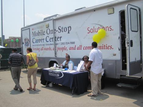 The mobile centers provide free resources to allow users to access employment-related services under one roof.