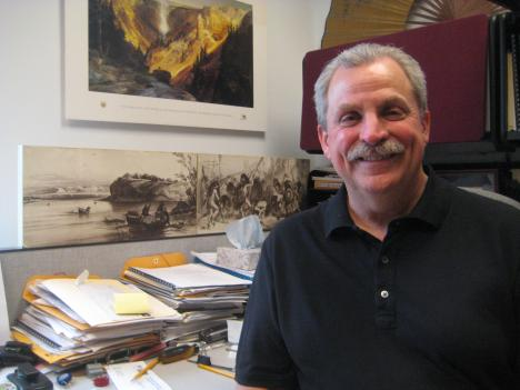 Bob Sonderman has been working for the National Park Service for more than two decades. He oversees the collection and preservation of objects recovered on National Park Service land throughout the region.