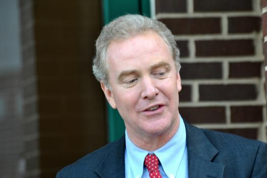 Rep. Chris Van Hollen at a rally in October. Van Hollen is part of a bipartisan group of lawmakers negotiating the nation's debt ceiling.