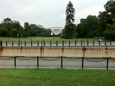 There are currently five design proposals for changes to President's Park, which has been lined with barricades since 9-11.