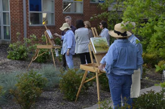 Easels in Frederick pits plein air painters against each other in a mostly friendly competition this week.