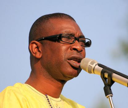 Youssou N'Dour performing in 2007. N'Dour brings all sorts of sounds to the Lisner Auditorium Thursday night.