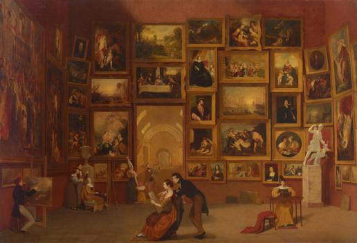 "Samuel Morse's ""Gallery of the Louvre"" is showing at the National Gallery of Art through early July."