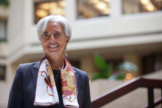 Christine Lagarde, the next managing director of the International Monetary Fund, at the IMF headquarters in D.C. on June 23. Lagarde attended Holton-Arms School in Bethesda.