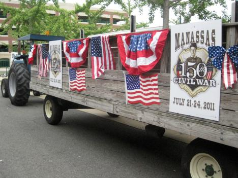 The City of Manassas is displaying even more patriotic spirit than usual as it gears up for the sesquicentennial of the start of the Civil War later this month.
