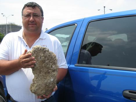 Sasquatch Watch of Virginia director Billy Willard made this cast of what he believes is a Bigfoot footprint.