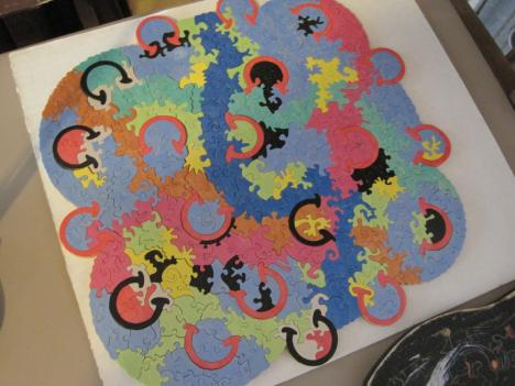 Thom Spencer likes to experiment with color when designing a puzzle.